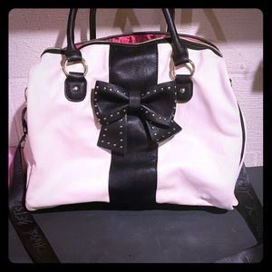Betsey Johnson large leather tote